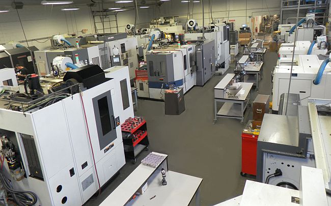 Precision Technologies' Manufacturing Shop Floor